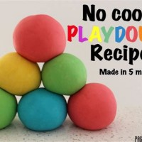 No Cook Playdough Recipe For Toddlers